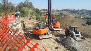 Sono a buon punto i lavori di risanamento della frana sulla Tolentino - San Ginesio