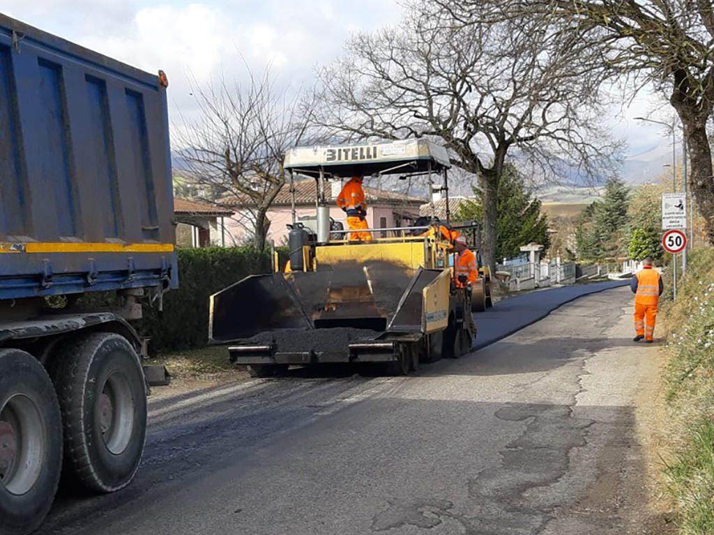 In via di ultimazione il rifacimento di alcuni tratti stradali della Provinciale Braccano